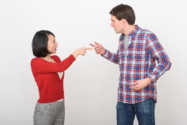 喧嘩の多い夫婦