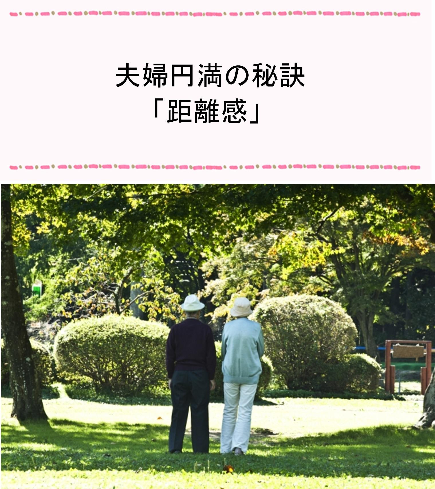 夫婦円満の秘訣「距離感」